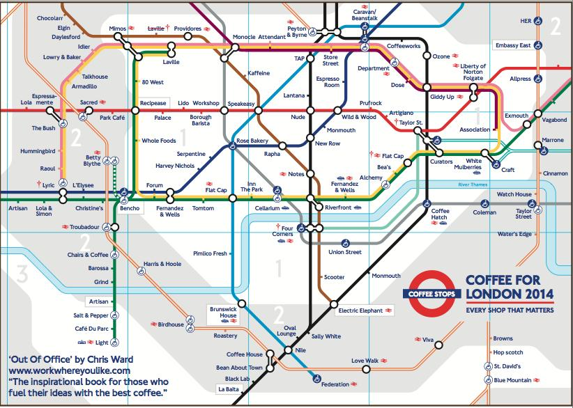 coffee tube map